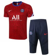 2020-2021 PSG Short Soccer Training Suit Red