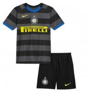 2020/2021 Inter Milan Third Black Kids Soccer Jersey Kit (Shirt + Short)