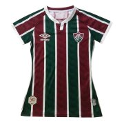 2020/2021 Fluminense Home Green&Red Stripes Women Soccer Jersey Shirt