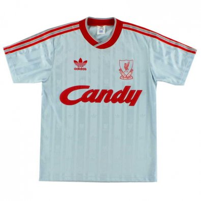 1988 Liverpool Retro Away White Men Soccer Jersey Shirt