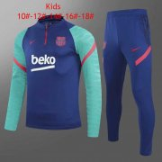 2020/2021 Barcelona Blue Soccer Training Suit Kid's
