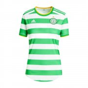 2020/2021 Celtic FC Home Green&White Stripes Soccer Jersey Women's With No Sponsor