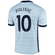 2020/2021 Chelsea Away Light Blue Men's Soccer Jersey Pulisic #10