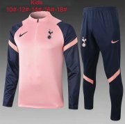 Kid's 2020-2021 Tottenham Hotspur Pink Half Zip Soccer Training Suit