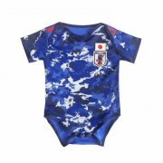 2020 Japan Home Blue Baby Infant Crawl Soccer Jersey Shirt