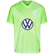 2020/2021 VFL Wolfsburg Home Green Men Soccer Jersey Shirt