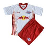 2020/21 RB Leipzig Home White Kids Soccer Jersey Kit(Shirt + Short)