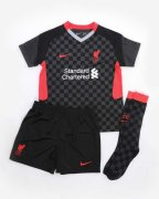 2020/2021 Liverpool Third Black Soccer Whole Kit Jersey + Short + Socks Kid's