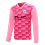 2020/2021 Manchester City Goalkeeper Pink Long Sleeve Soccer Jersey Men's