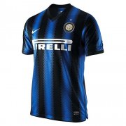 2010-2011 Inter Milan Retro Home Blue & Black Stripes Men Soccer Jersey Shirt
