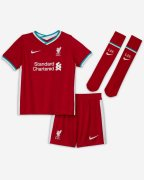 2020/2021 Liverpool Home Red Soccer Whole Kit Jersey + Short + Socks Kid's