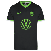 2020/2021 VFL Wolfsburg Away Black Men Soccer Jersey Shirt