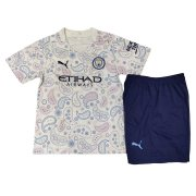 2020/21 Manchester City Third White Kids Soccer Jersey Kit(Shirt + Short)