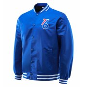 2020/2021 Philadelphia 76ers Full-Snap Blue Jacket Mens