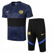 2020-2021 Inter Milan Short Soccer Training Suit Blue & Black