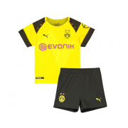 Borussia Dortmund 18-19 Cup Home Yellow Kids Soccer Jersey+Short