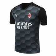 2020/2021 AC Milan Goalkeeper Black Soccer Jersey Men's