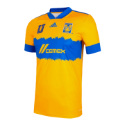 2020/2021 Tigres UANL World Club Cup Home Yellow Soccer Jersey Men's