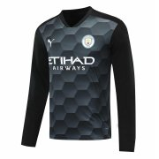 2020/2021 Manchester City Goalkeeper Black Long Sleeve Soccer Jersey Men's