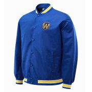 2020/2021 Golden State Warriors Full-Snap Blue Jacket Mens