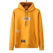 2021/2022 Los Angels Lakers x Aape Pullover Yellow Hoodie Sweatshirt Men