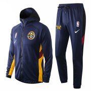 2020/2021 Denver Nuggets Navy Training Suit Jacket + Pants - Hoodie