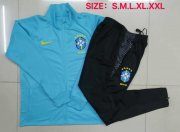 2020-2021 Brazil Blue Jacket Soccer Training Suit