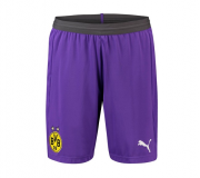 Borussia Dortmund 18-19 Third Goalkeeper Purple Soccer Short