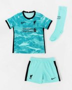 2020/2021 Liverpool Away Soccer Whole Kit Jersey + Short + Socks Kid's