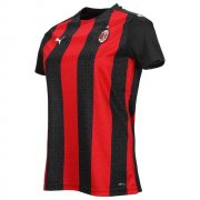 2020/2021 AC Milan Home Red Black Stripes Soccer Jersey Women's