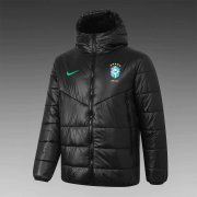 2020/2021 Brazil Black Soccer Winter Jacket Men's