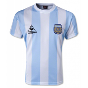 1986 World Cup Argentina Home Blue&White Retro Soccer Jersey Shirt Men
