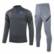 2020/2021 Inter Milan Deep Grey Men's Soccer Training Suit