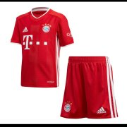 2020/21 Bayern Munich Home Red Kids Soccer Jersey Kit(Shirt + Short)