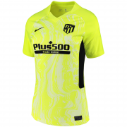 2020/2021 Atlético de Madrid Third Yellow Women Soccer Jersey Shirt