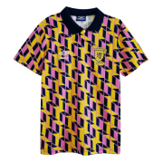 88/89 Scotland Away Yellow&Pink&Blue Retro Soccer Jersey Shirt Men