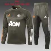 2020/2021 Manchester United Olive Green Soccer Training Suit Kid's