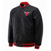 2020/2021 Chicago Bulls Full-Snap Black Jacket Mens