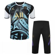 2020-2021 PSG x Jordan Short Soccer Training Suit Black