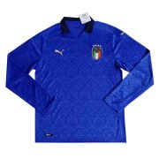 2020 Italy Home LS Soccer Jersey Men's