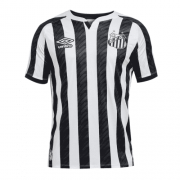 2020/21 Santos Away Black&White Men Soccer Jersey Shirt