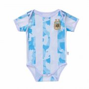 2020 Argentina Home Blue&White Stripes Baby Infant Crawl Soccer Jersey Shirt
