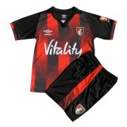2020/21 Bournemouth Home Black&Red Kids Soccer Jersey Kit(Shirt + Short)