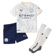 2020/2021 Manchester City Third White Kids Soccer Jersey Whole Kit (Shirt + Short + Socks)
