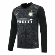 2020/2021 Inter Milan Goalkeeper Black Long Sleeve Soccer Jersey Men's