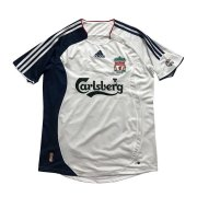 2006/07 Liverpool Retro Away White Men Soccer Jersey Shirt