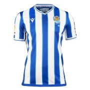 2020/2021 Real Sociedad Home Blue & White Stripes Soccer Jersey Men's