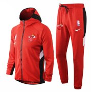 2020/2021 Miami Heat Red Training Suit Jacket + Pants - Hoodie