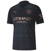 2020/2021 Manchester City Away Black Men Soccer Jersey Shirt