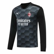 2020/2021 AC Milan Goalkeeper Black Long Sleeve Soccer Jersey Men's